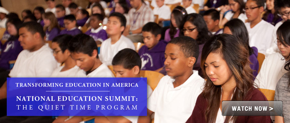National Education Summit: The Quiet Time Program